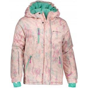 Dětská lyžařská bunda ALPINE PRO AGOSTO 2 KJCM123 SVĚTLE RŮŽOVÁ