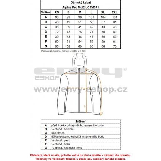 Dámský zimní kabát ALPINE PRO MOI 2 LCTM071 TMAVĚ ŠEDÁ