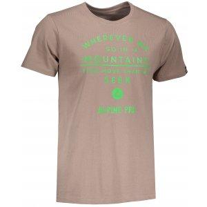 Pánské triko ALPINE PRO UNEG 5 MTSM306 HNĚDÁ
