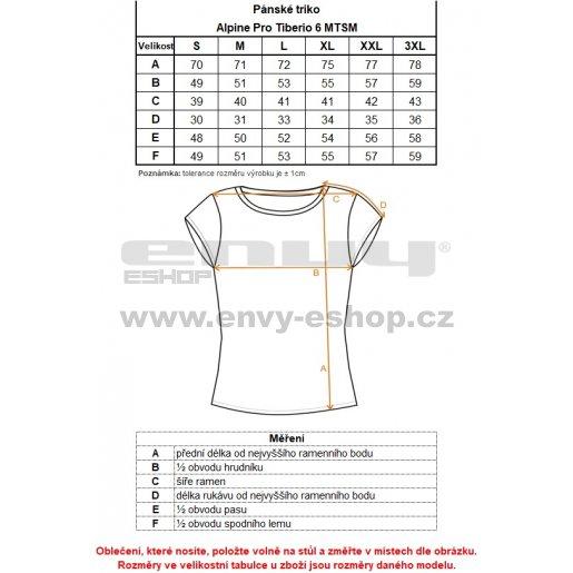 Pánské triko ALPINE PRO TIBERIO 6 MTSM310 TMAVĚ ŠEDÁ