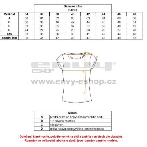 Dámské triko s krátkým rukávem ALTISPORT PABIS ALLS18038 MELÍR