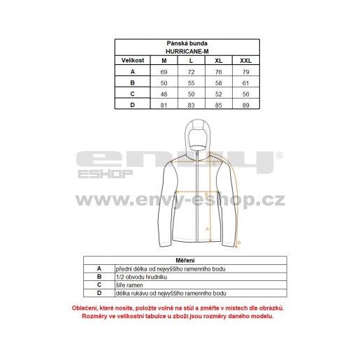 Pánská sportovní bunda KILPI HURRICANE-M IM0063KI ČERNÁ