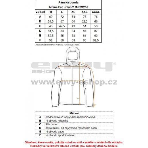 Pánská softshellová bunda ALPINE PRO JOKIN 2 MJCM253 MODRÁ