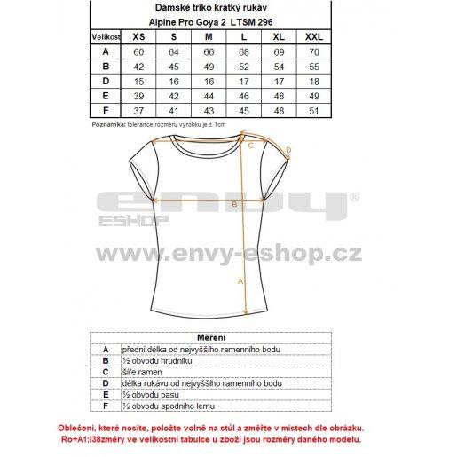 Dámské triko ALPINE PRO GOYA 2 LTSM296 TMAVĚ ŠEDÁ
