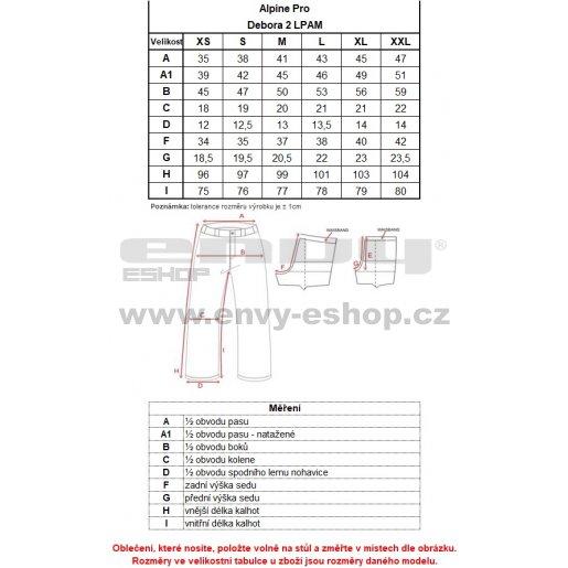 Dámské zateplené kalhoty ALPINE PRO DEBORA 2 LPAM232 TMAVĚ ŠEDÁ