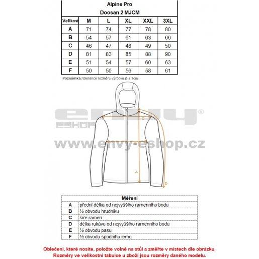 Pánská softshellová bunda ALPINE PRO DOOSAN 2 MJCM198 TMAVĚ MODRÁ