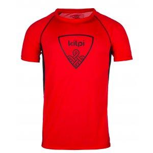 Pánské funkční triko s krátkým rukávem KILPI LITYS-M IM0010KI ČERVENÁ