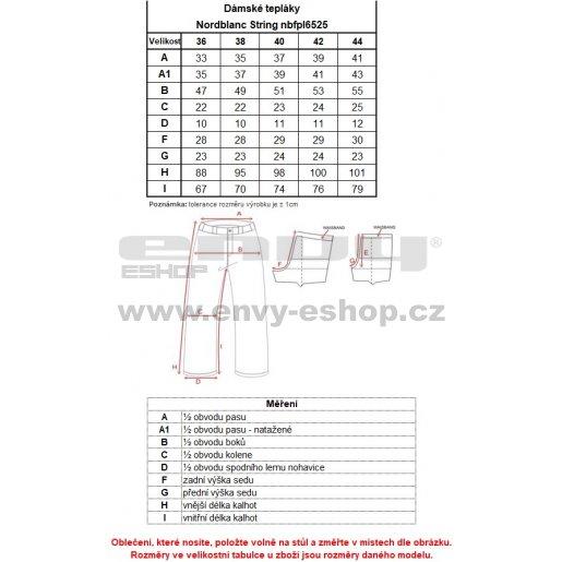 Dámské tepláky NORDBLANC STRING NBFPL6525 ČERNÁ