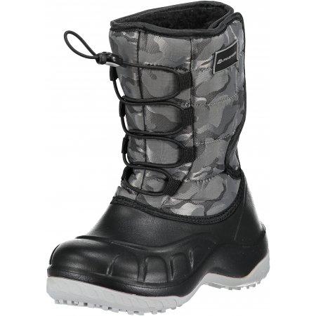 Dětská zimní obuv ALPINE PRO AMARO KBTM175 TMAVĚ ŠEDÁ
