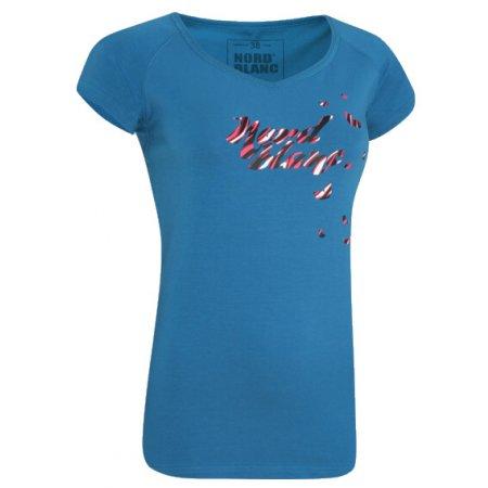Dámské triko s krátkým rukávem NORDBLANC NBFLT2829 MODRÝ KVĚT