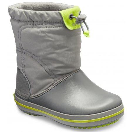 Dětské zimní boty CROCS KIDS CROCBAND LODGE POITN BOOT 203509-08G CHARCOAL/OCEAN