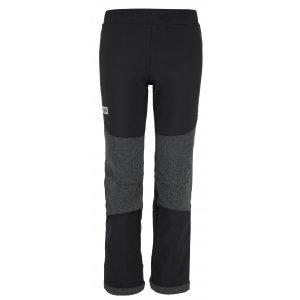 Dětské softshellové kalhoty KILPI RIZO-J JJ0047KI ČERNÁ