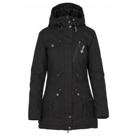Dámský zimní kabát  KILPI BRASIL-W JL0909KI ČERNÁ
