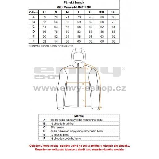 Pánská lyžařská bunda  KILPI ORMES-M JM0143KI TMAVĚ MODRÁ