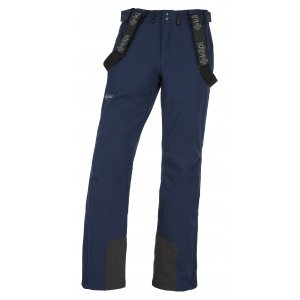 Pánské zimní softshellové kalhoty  KILPI RHEA-M JM0014KI TMAVĚ MODRÁ