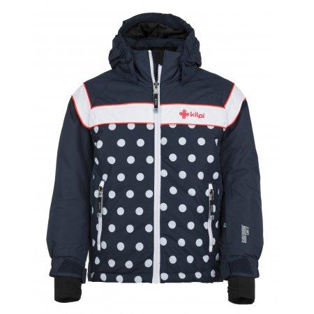 Dívčí lyžařská bunda  KILPI DELIS-JG JJ0066KI TMAVĚ MODRÁ