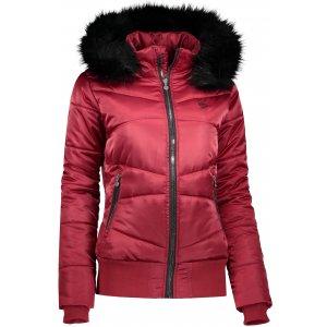 Dámská zimní bunda ALTISPORT TATRE TMAVĚ ČERVENÁ