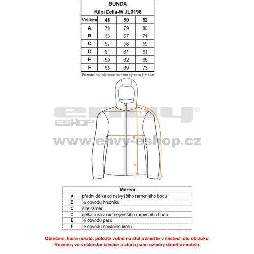 Dámská lyžařská bunda  KILPI DELIA-W JL0198KI TMAVĚ MODRÁ