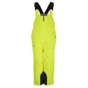 Chlapecké lyžařské kalhoty  KILPI CHARLIE-JB JJ0044KI ŽLUTÁ