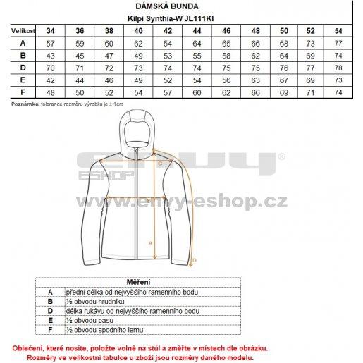Dámská péřová bunda KILPI SYNTHIA-W JL0111KI TMAVĚ MODRÁ