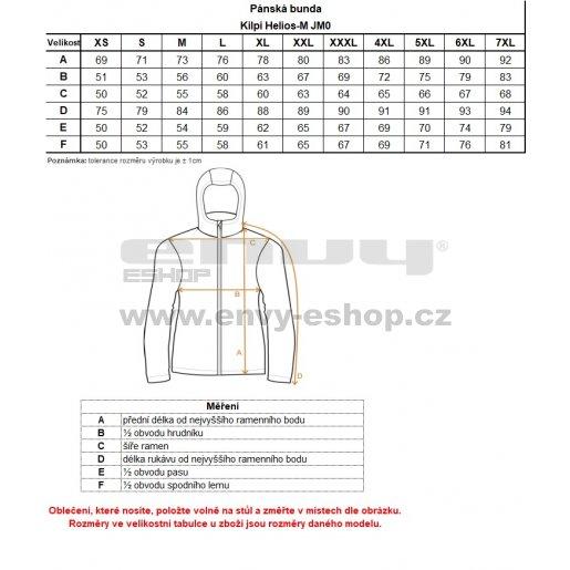 Pánská péřová bunda KILPI HELIOS-M JM0105KI ŽLUTÁ