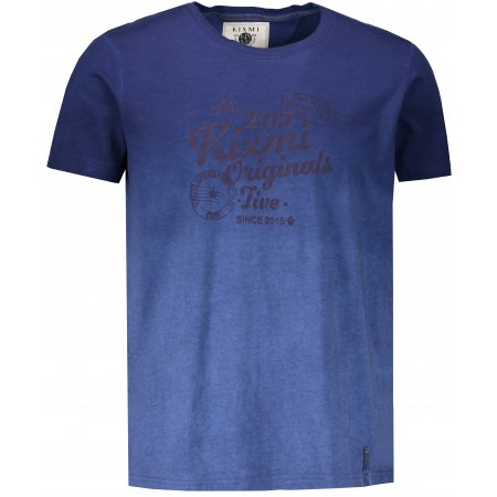 Pánské triko s krátkým rukávem KIXMI HOWARD TMAVĚ MODRÁ
