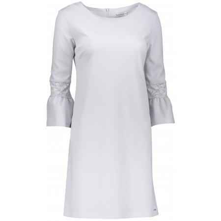 Dámské šaty NUMOCO A190-2 SVĚTLE ŠEDÁ
