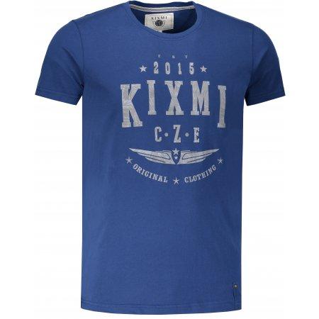 Pánské triko s krátkým rukávem KIXMI HARLY TMAVĚ MODRÁ