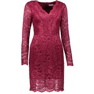 Dámské krajkové šaty NUMOCO A170-5 VÍNOVÁ