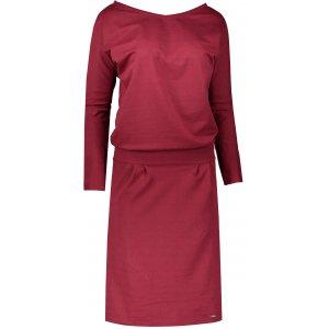 Dámské šaty NUMOCO A189-5 VÍNOVÁ