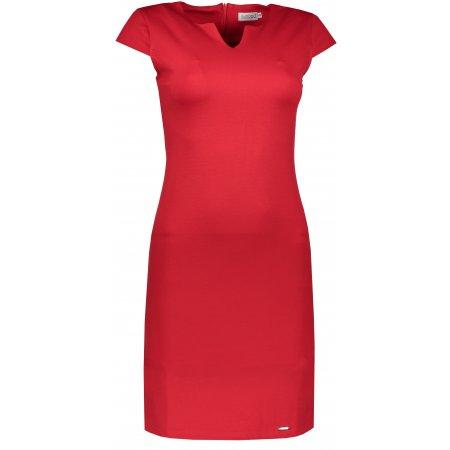 Dámské šaty NUMOCO A132-2 ČERVENÁ
