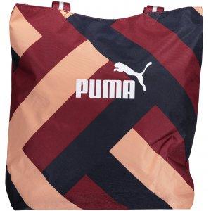 Dámská sportovní kabelka PUMA WMN CORE SHOPPER 07539803 POMEGRANATE/GRAPHIC