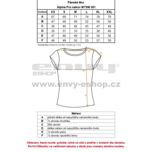 Pánské triko ALPINE PRO NAKOV MTSM381 ŠEDÁ