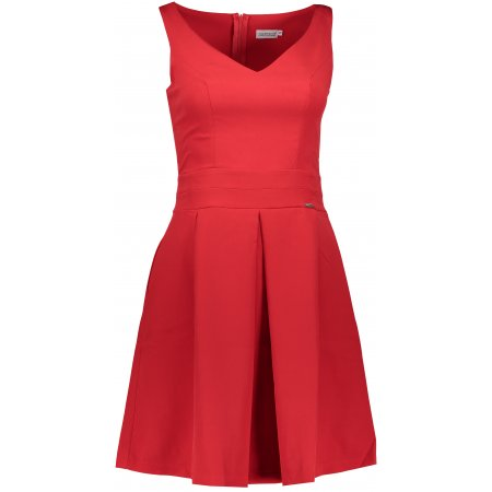 Dámské šaty NUMOCO A160-3 ČERVENÁ