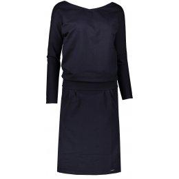 Dámské šaty NUMOCO A189-6 TMAVĚ MODRÁ