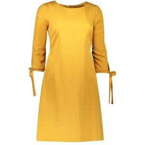 Dámské šaty NUMOCO A195-6 HOŘČICOVÁ