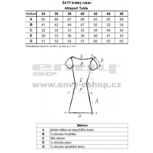 Dámské šaty ALTISPORT TULDA LSKN196 RŮŽOVÁ