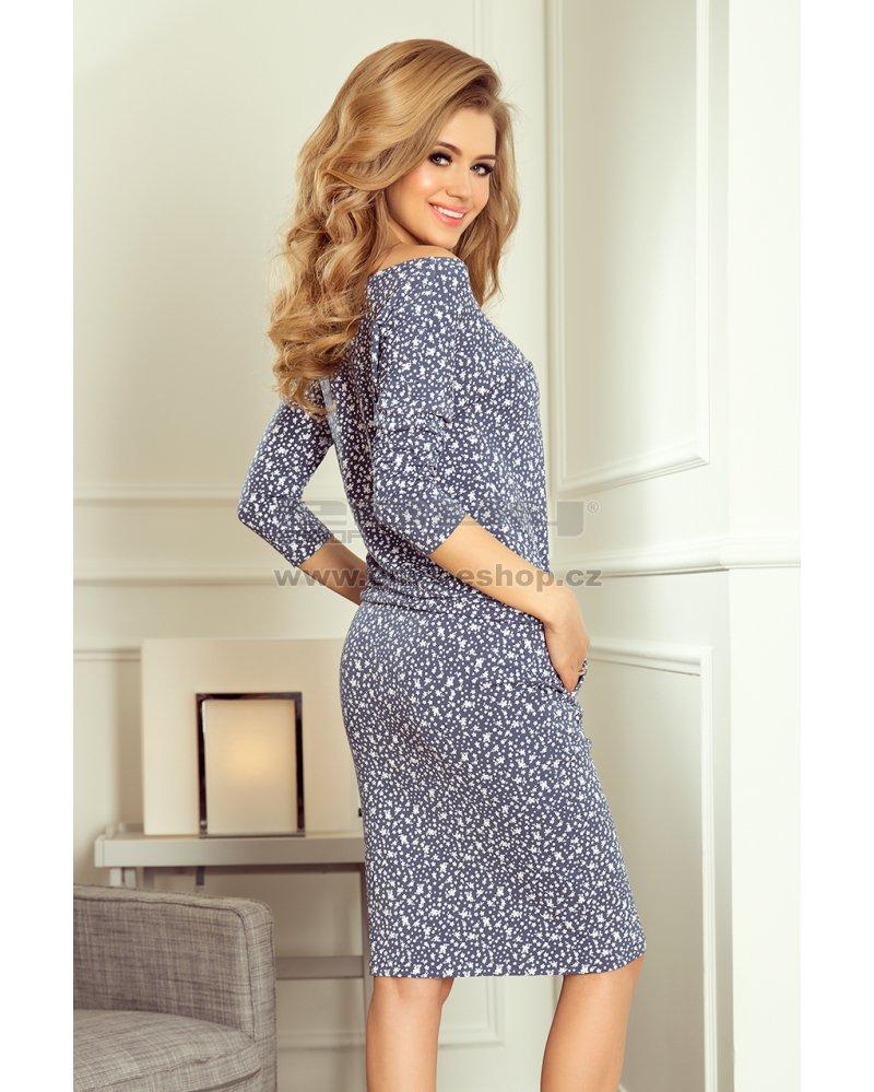 deefc2939d3 Dámské sportovní šaty NUMOCO A13-83 KVĚTINOVÝ JEAN velikost  L ...