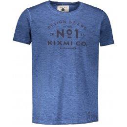 Pánské triko s krátkým rukávem KIXMI HENRIK TMAVĚ MODRÁ