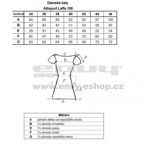 Dámské šaty ALTISPORT LAFFA LSKN198 TMAVĚ MODRÁ