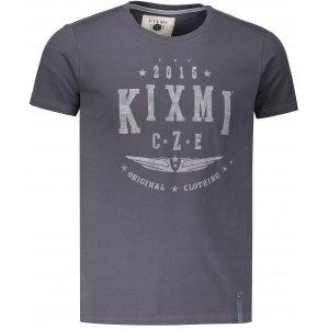 Pánské triko s krátkým rukávem KIXMI HARLY TMAVĚ ŠEDÁ