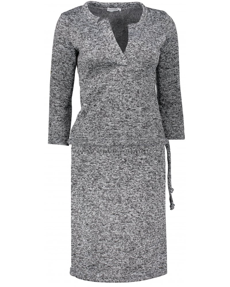 Dámské šaty NUMOCO A161-4 ČERNÝ MELANŽ velikost  L   ENVY-ESHOP.cz e2c84868e07