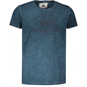 Pánské triko s krátkým rukávem KIXMI HENRIK MODRÁ