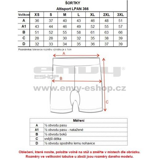 Dámské kraťásky ALTISPORT VAJLA LPAN366 TMAVĚ MODRÁ