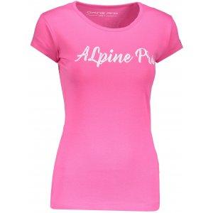 Dámské triko s krátkým rukávem ALPINE PRO HERTA LTSN565 RŮŽOVÁ
