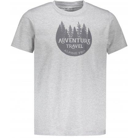 Pánské triko s krátkým rukávem ALPINE PRO DOD MTSN416 ŠEDÁ