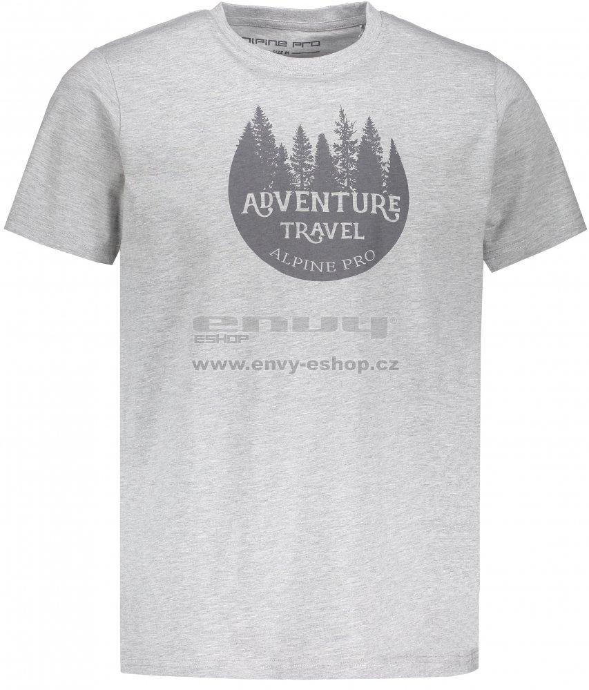 Pánské triko s krátkým rukávem ALPINE PRO DOD MTSN416 ŠEDÁ velikost ... 8d4832a388