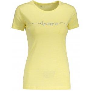 Dámské tričko s krátkým rukávem ALPINE PRO ROZENA 5 LTSN428 ŽLUTÁ