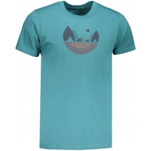 Pánské tričko s krátkým rukávem ALPINE PRO ABIC MTSN355 ZELENÁ