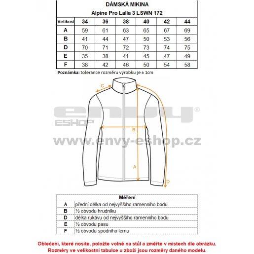 Dámská sportovní mikina ALPINE PRO LALLA 3 LSWN172 ZELENÁ